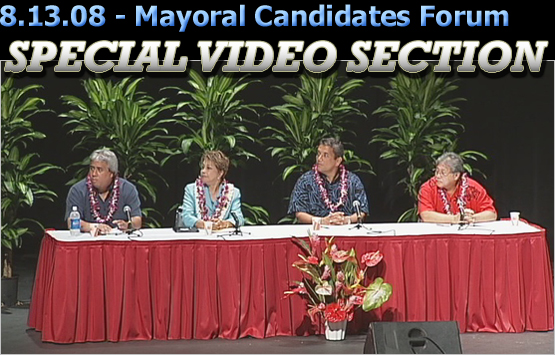 SPECIAL VIDEO SECTION: Mayoral Candidate Forum