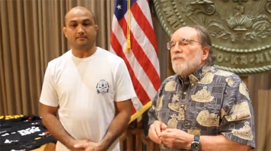 VIDEO: BJ Penn, governor hope to bring UFC to Hawaii