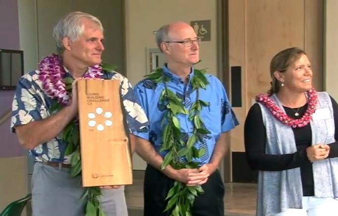 VIDEO: Hawaii Prep Energy Lab presented Living Building award