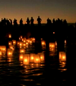 VIDEO: Floating lanterns scenic end to season of remembrance