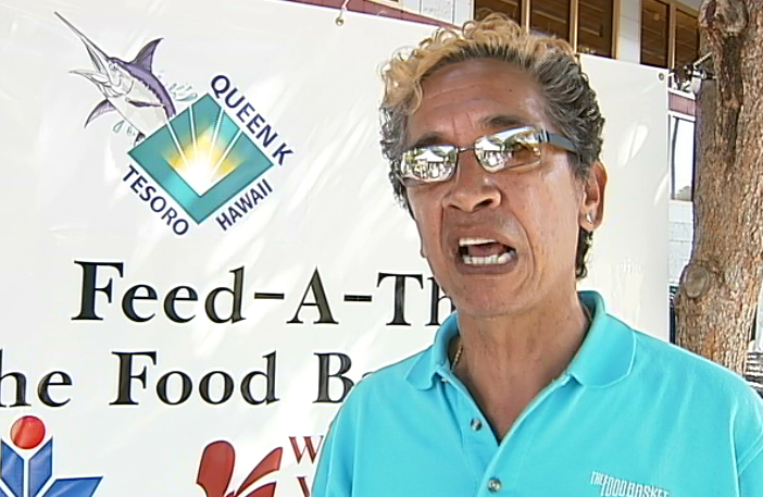 VIDEO: Kahikina leads food drive in Waikoloa Village