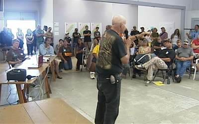 Local hunters voice their concerns at a public hearing in Naalehu