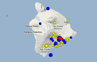 """Whopping"" number of earthquakes shake around Hawaii volcano"