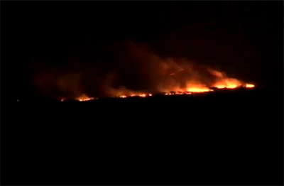 VIDEO: Brushfires burn through Ka'u, force evacuation