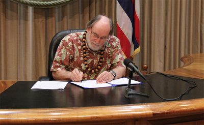 Governor signs bills on Tuesday