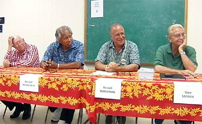 State Senate candidates in Pahoa
