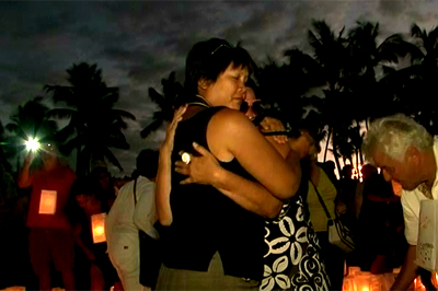 VIDEO: Lantern floating for North Hawaii Hospice