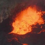 USGS video shows lava lake at high level in Halemaumau