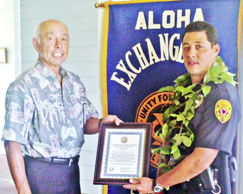 Bronson Kaliloa is East Hawaii Officer of the Month