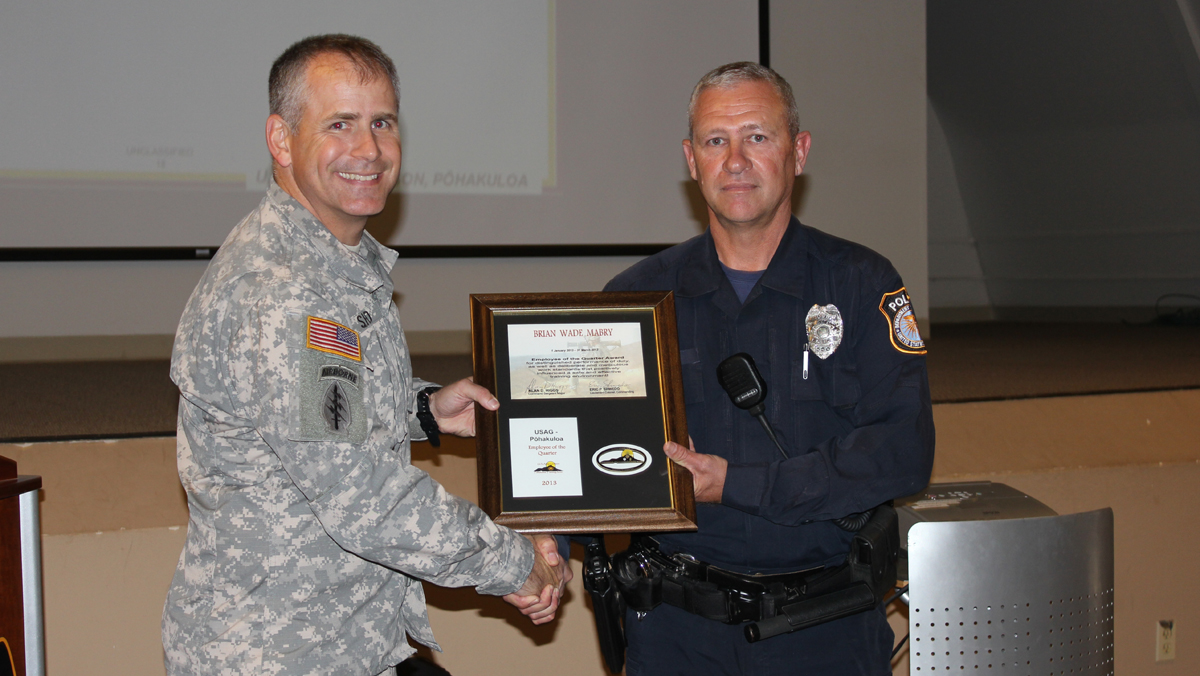 Army police officer is PTA employee of the quarter