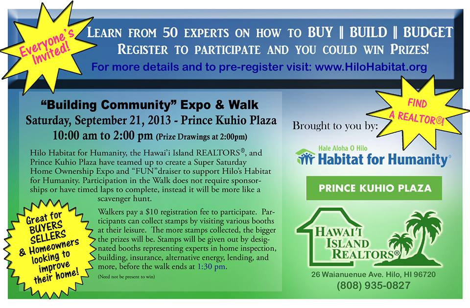Building Community Expo & Walk on Saturday, September 21st