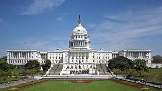 Photo of the U.S. Capitol by Martin Falbisoner via Wikipedia