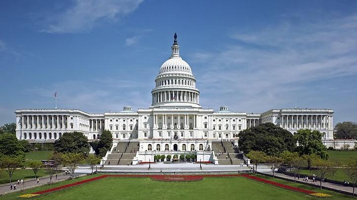 Photo of the U.S. Capitol by Martin Falbisoner via Wikipedia