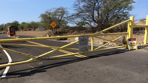 Hapuna Beach remained closed today due to the high surf.
