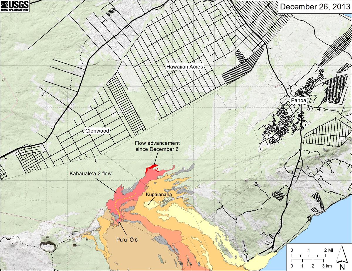 Hawaii Big Island Lava Flow Map