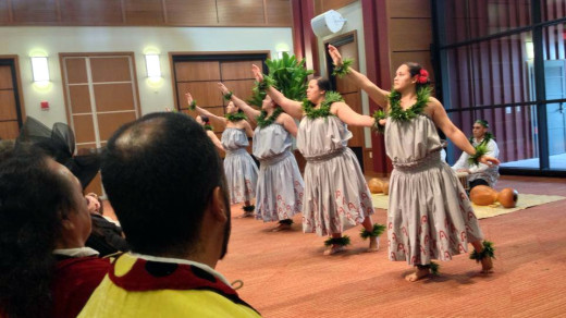 Hula celebrates Luka Keanolani Kanahoahoa Keelikolani, namesake of the UH-Hilo College of Hawaiian Language