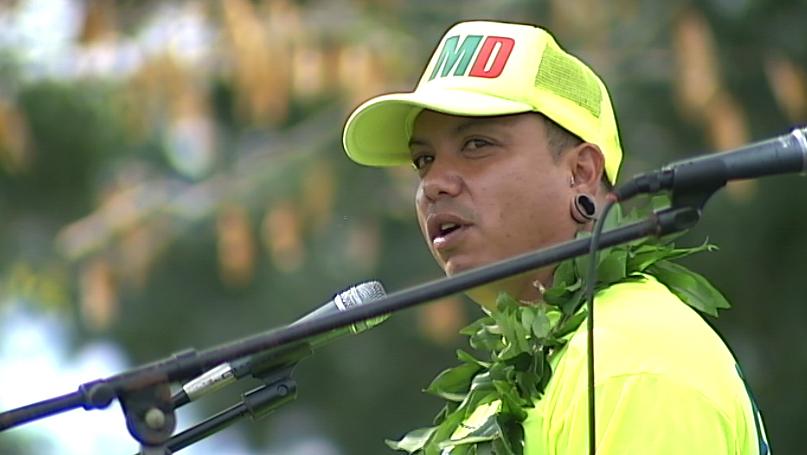 "VIDEO: Daryl ""Sammy"" Sampaga finishes journey in Hilo"