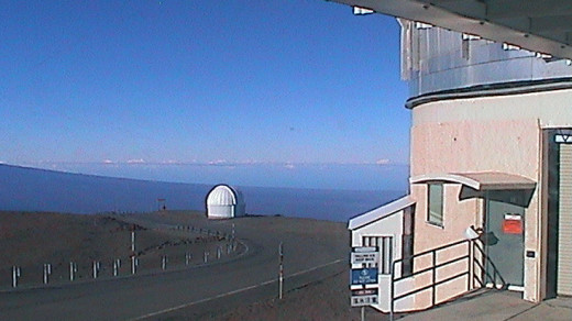 Joint Astronomy Center photo shows the summit of Mauna Kea on Saturday at 8:06 a.m. HST