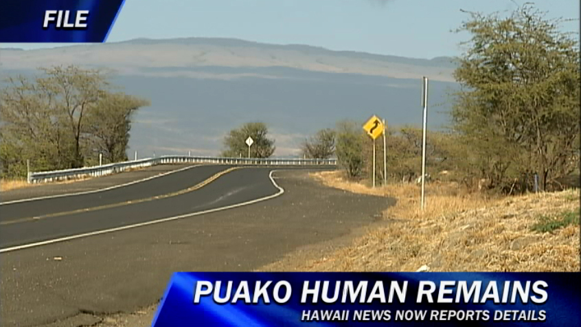 Human remains found in Puako investigated as murder case