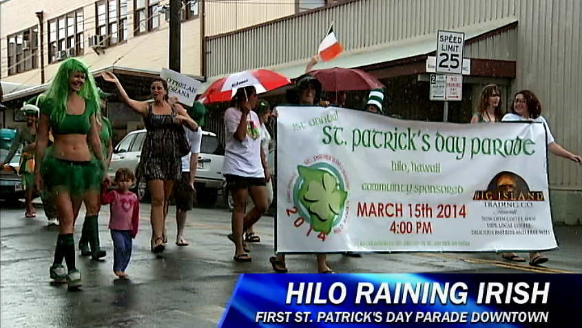 VIDEO: First St. Patrick's Day Parade held in Hilo, Hawaii