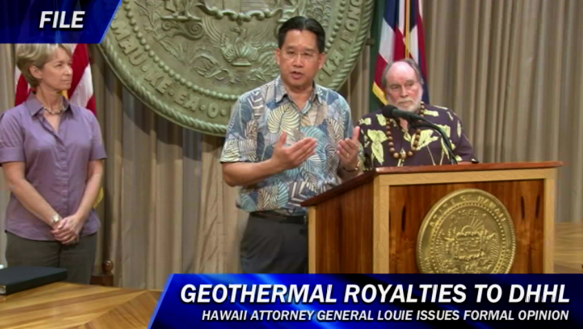 AG: All geothermal royalties on Hawaiian Home Lands go to DHHL