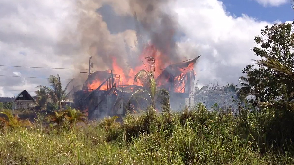 "Seaview ""House of Cards"" burns down, possible arson"