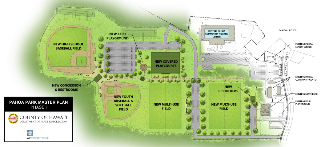 Video 22 3 million pahoa district park breaks ground for Swimming pool site plan
