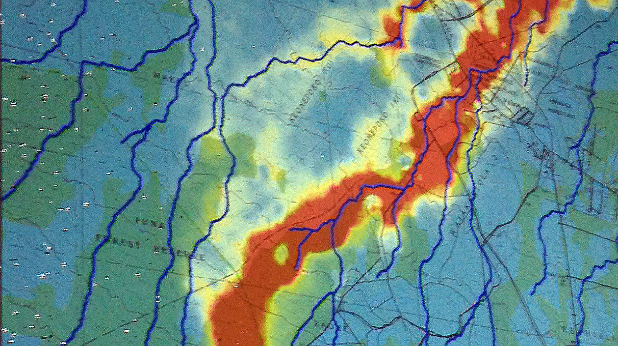 Close up of the latest projection, created by USGS Hawaiian Volcano Observatory on Sept. 11
