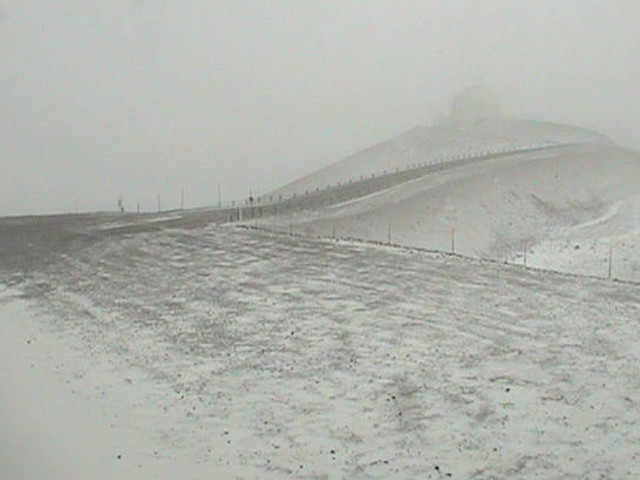 Snow On Hawaii Summits, Mauna Kea Road Closed
