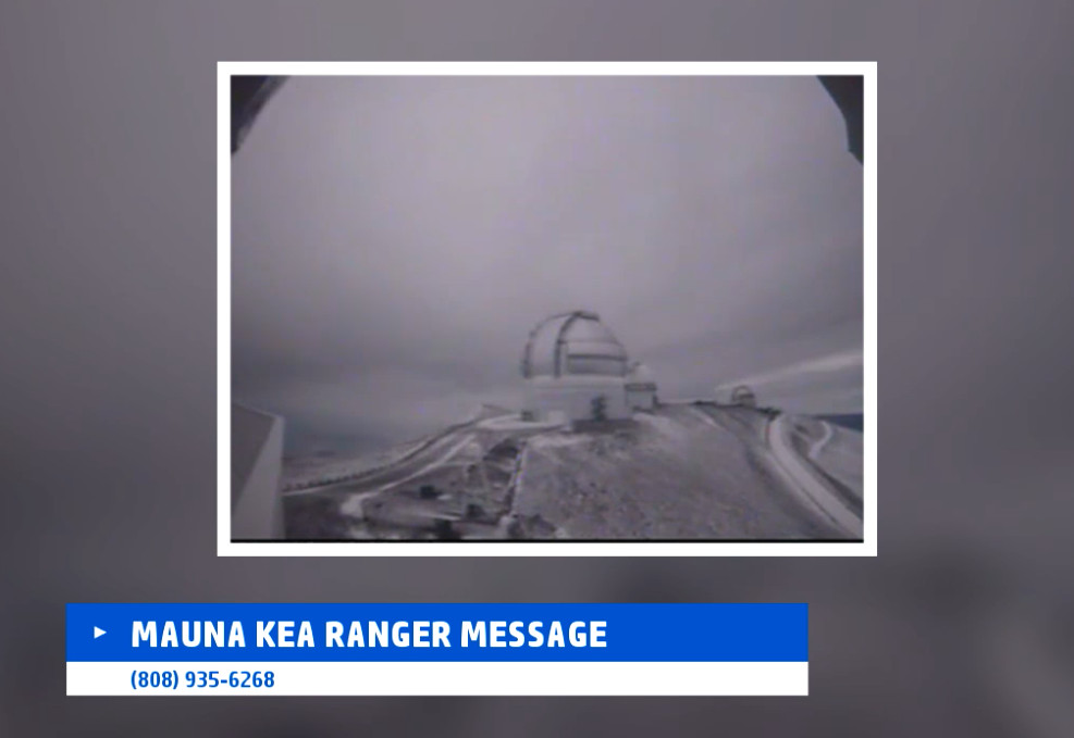 VIDEO: Hawaii Snow Update – Blizzard Warning For Summits