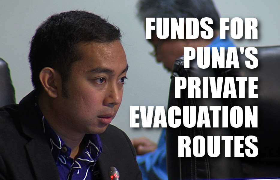 VIDEO: Funds For Puna's Private Emergency Routes?