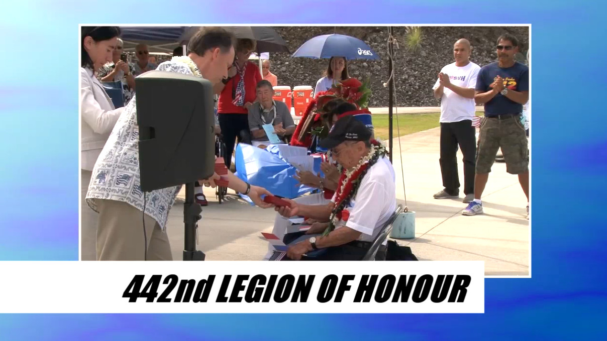 VIDEO: 442nd Vets Awarded Legion of Honour in Kona