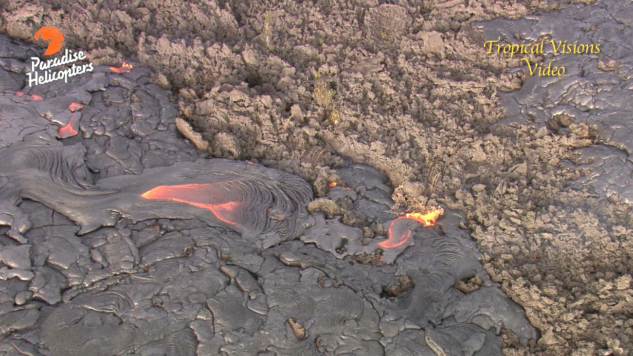 VIDEO: Scientist Describes Upslope Lava Breakout, Stall At Flow Front