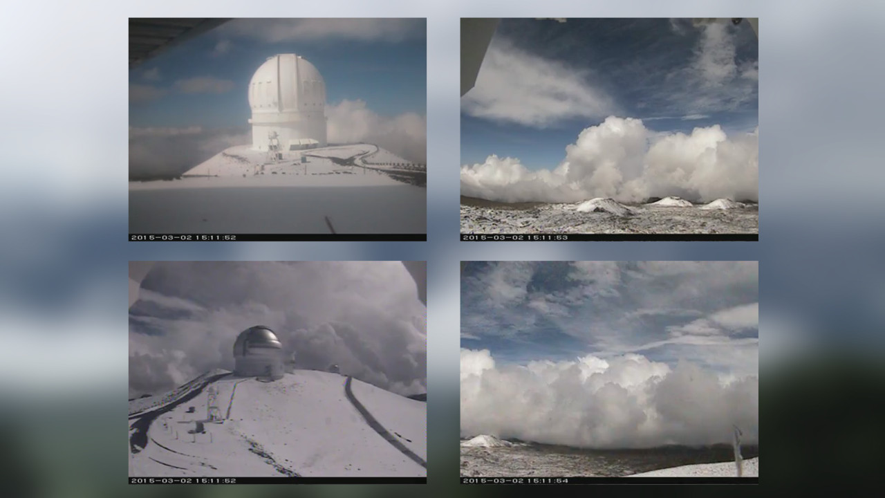 VIDEO: Snow Covers Mauna Kea, Summit Road Open