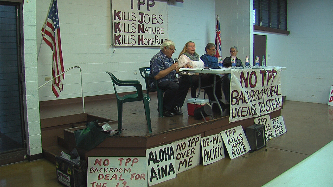 Concerned Hawaii Residents Discuss TPP, Plan Action