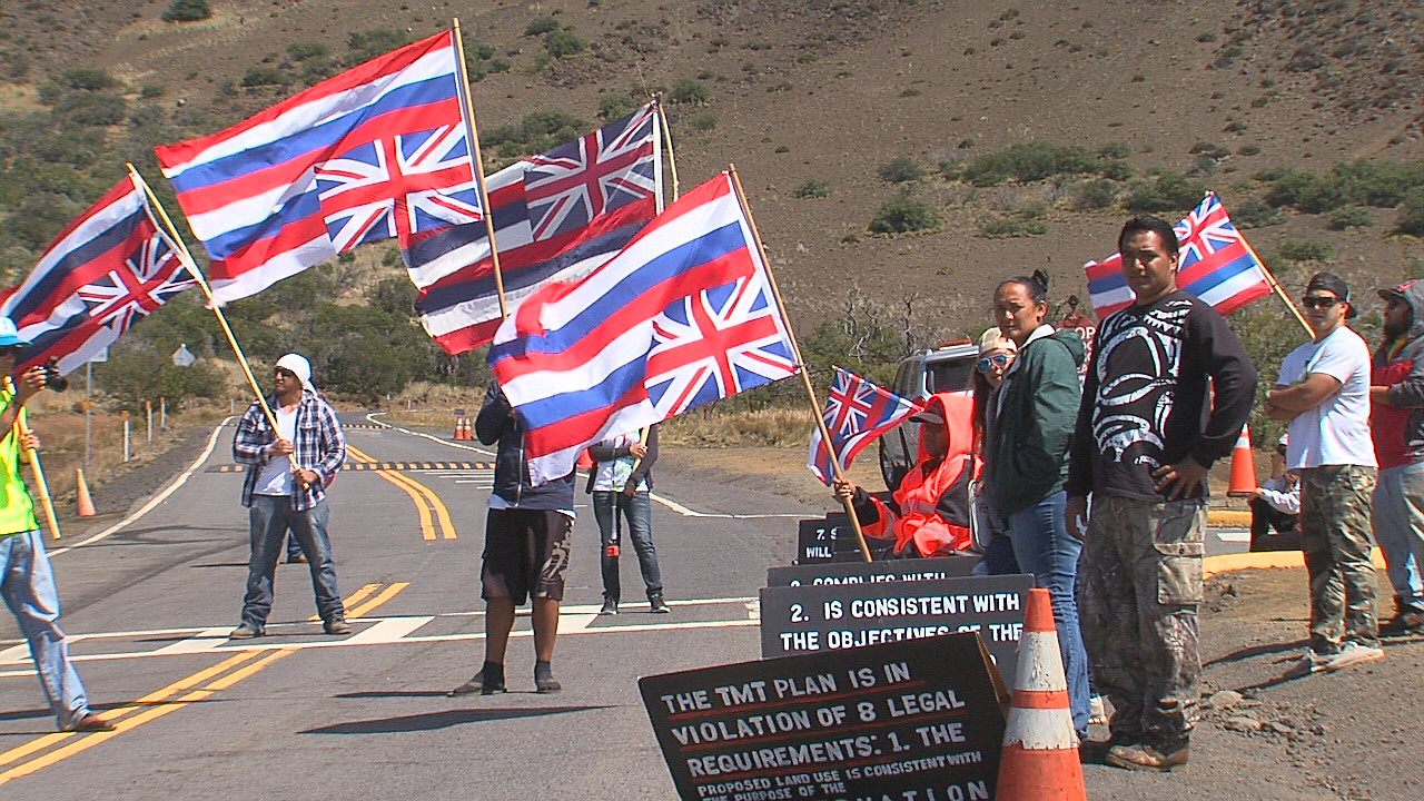 VIDEO: TMT Opposition Stakes Out Mauna Kea