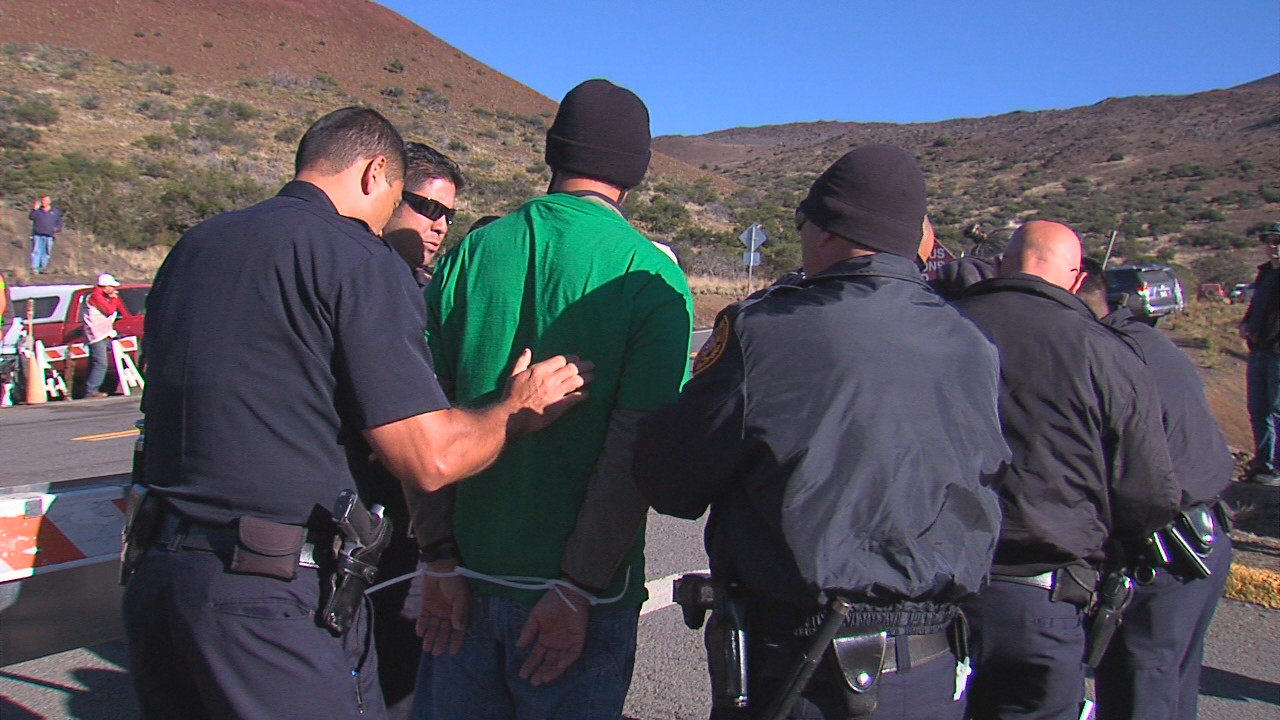 VIDEO: Several Arrested In Mauna Kea TMT Blockade
