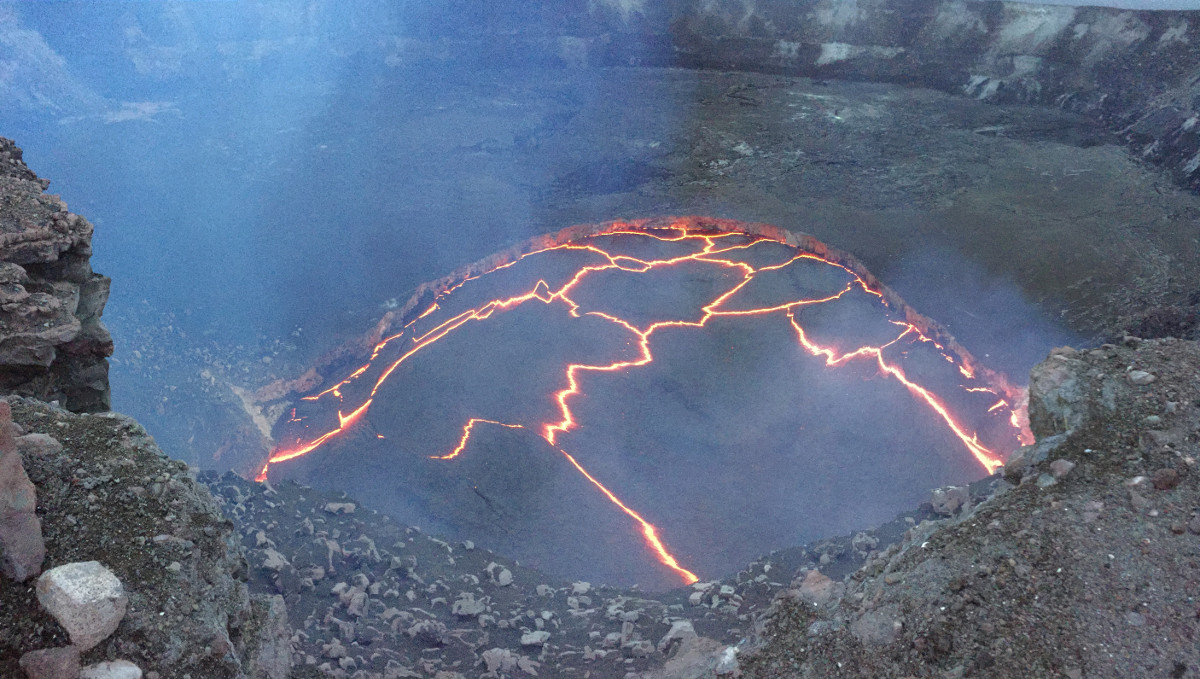 Hawaii Volcano Lava Lake 13 Feet From Spilling Over