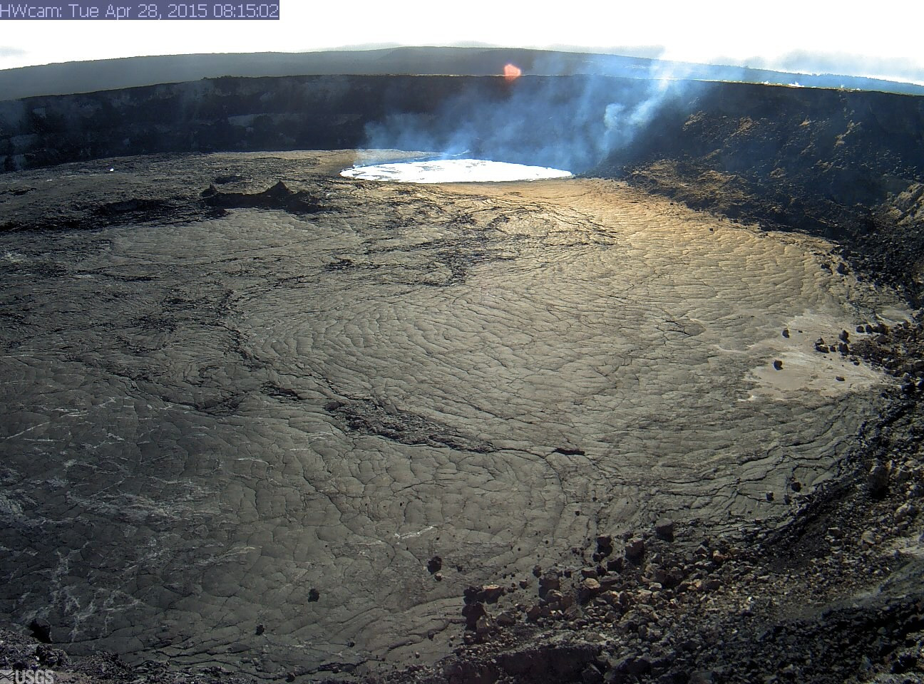 New webcam at Kilauea summit