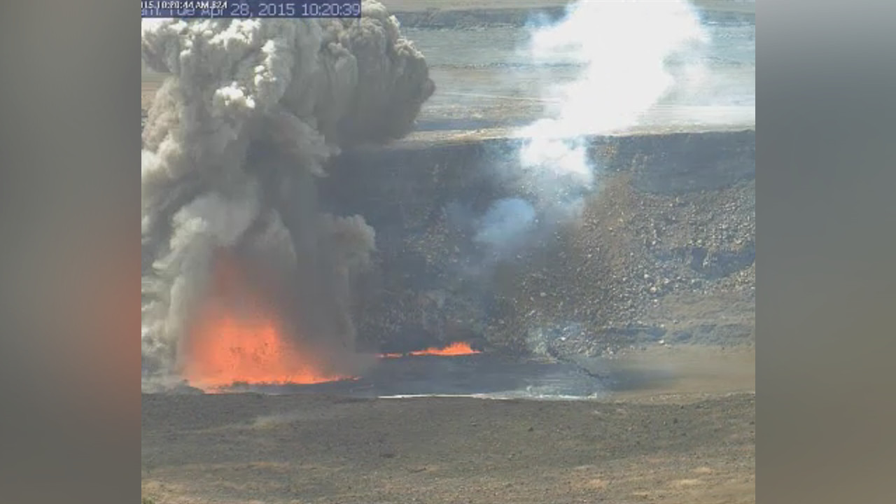 VIDEO: Explosion At Volcano Lava Lake