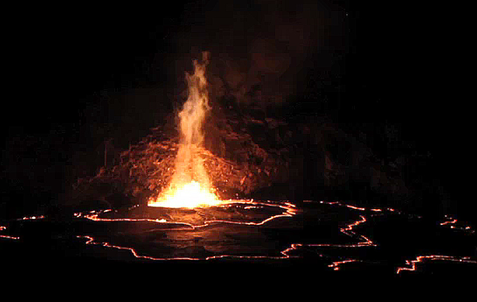 VIDEO: Volcano Lava Lake Spills Over Rim