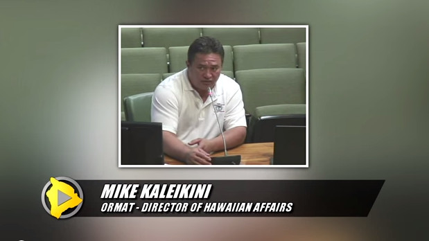 VIDEO: Hawaii County Council Discusses Geothermal Solution Mining