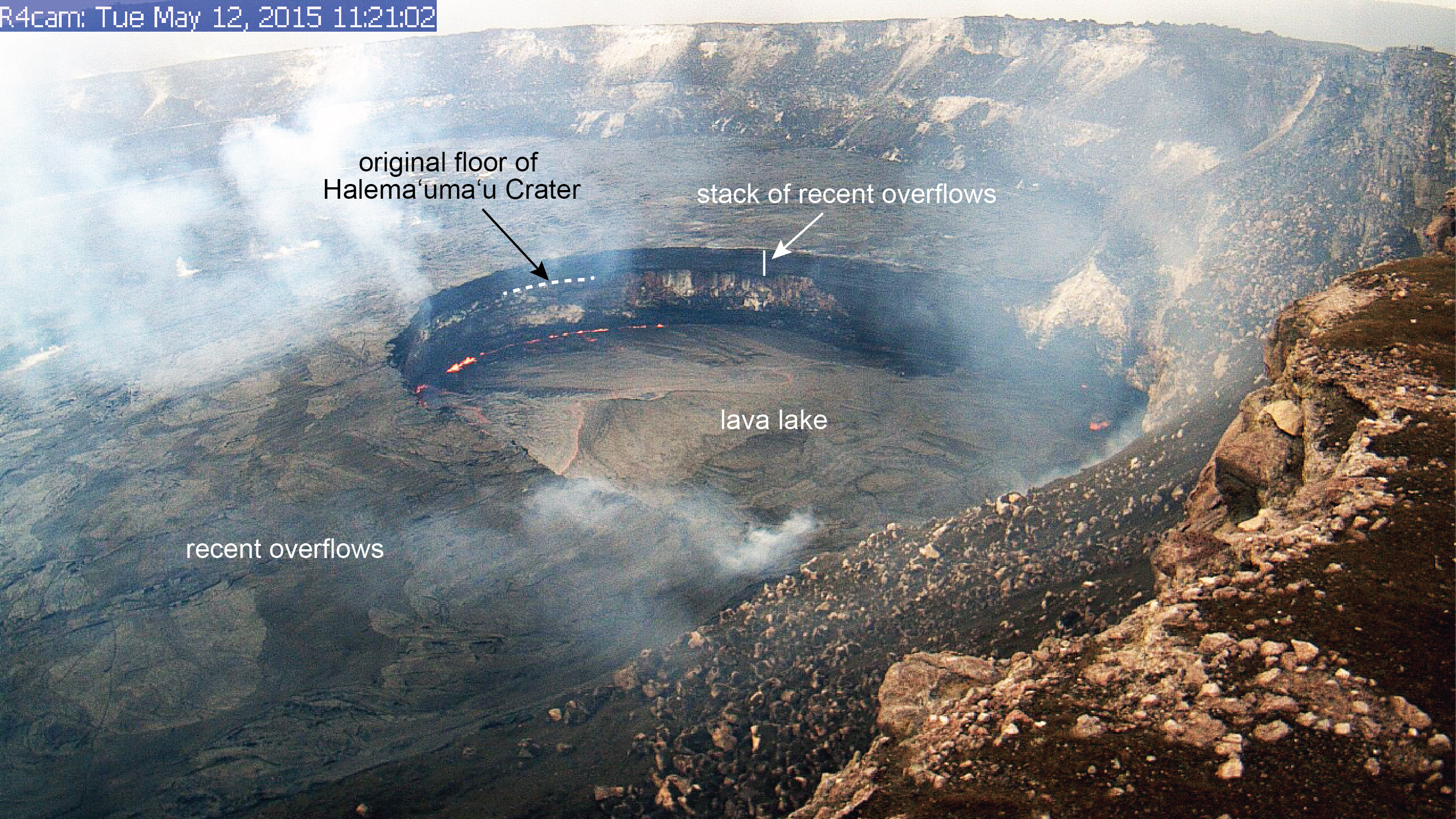 Volcano Lava Lake Drops Out Of Public View