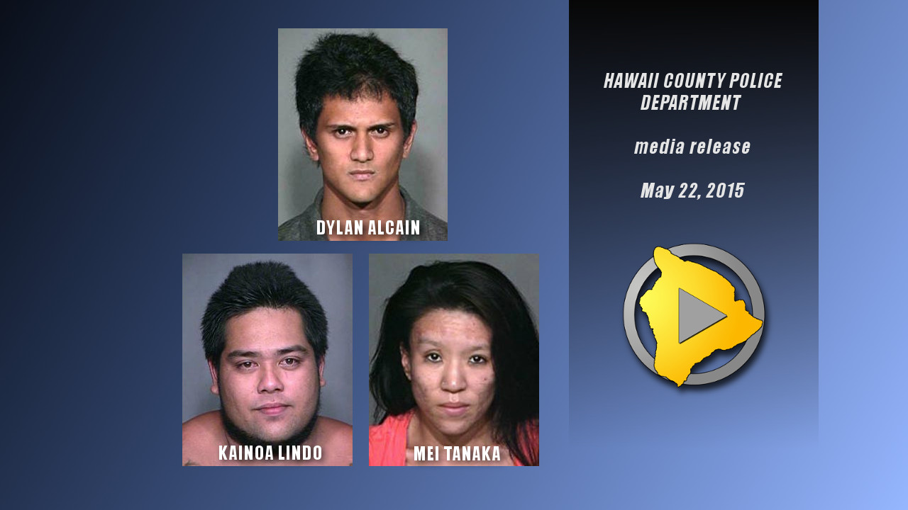 Kona Crime Spree Results in Three Arrests, Charges