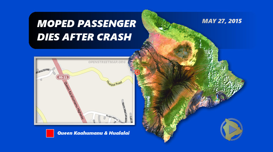 Moped Passenger Dies After Kona Crash