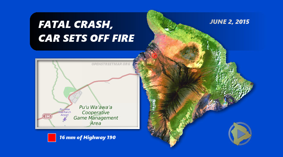 Fatal Crash Sparks Small Brush Fire on Highway 190