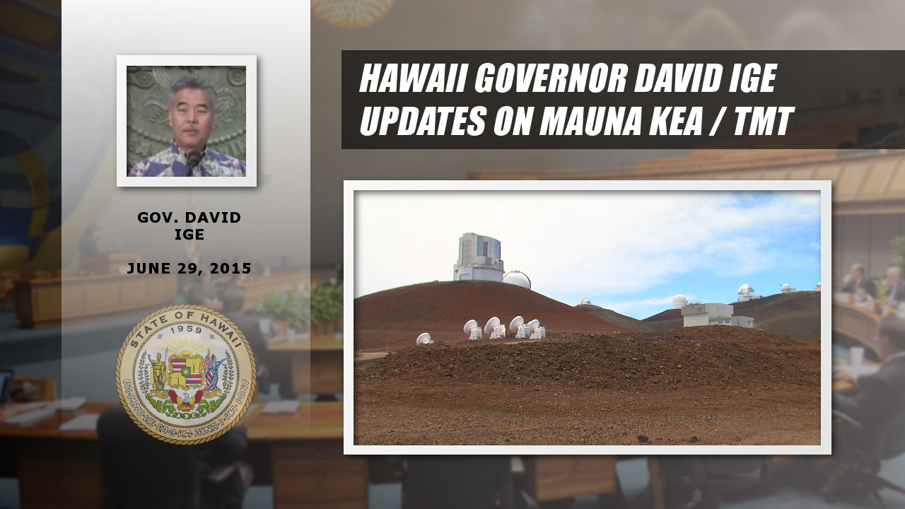 Governor Ige Talks TMT During Press Conference