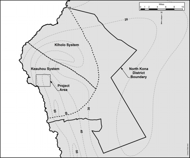 Map from Keōpū Well Facility EA