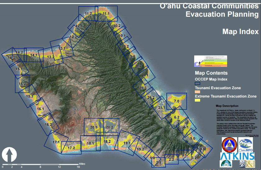 Oahu Tsunami Inundation Zone Map