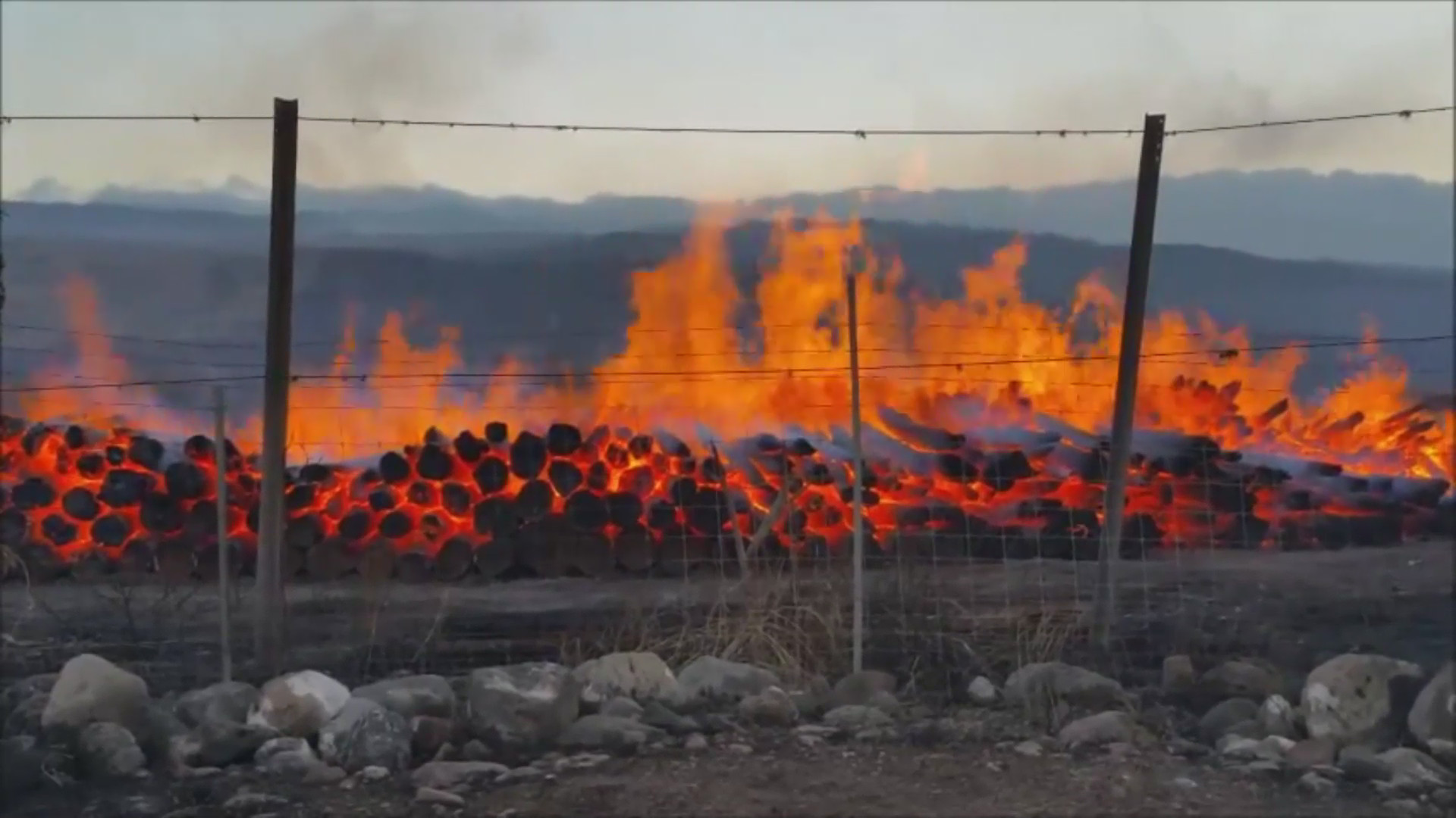 VIDEO: Fire Engulfs Hundreds Of Logs Stacked By Kawaihae